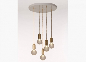 Frosted Crystal Bulb Chandelier Lee Broom