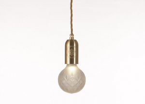 Frosted Crystal Bulb & Pendant Lee Broom