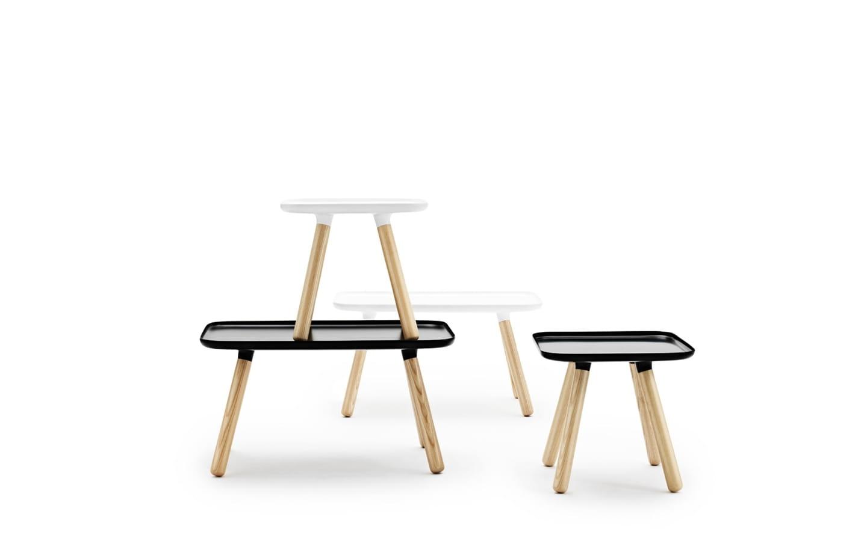 stolik tablo kwadratowy bia y normann copenhagen. Black Bedroom Furniture Sets. Home Design Ideas