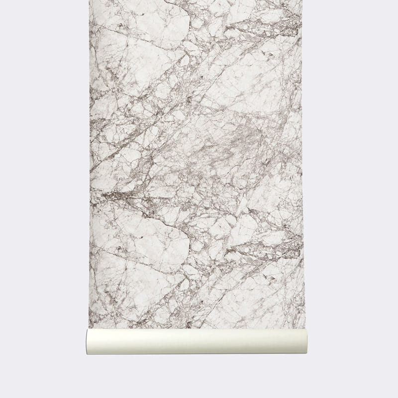 tapeta marble ferm living scandinavian living. Black Bedroom Furniture Sets. Home Design Ideas