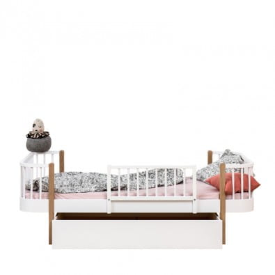 Drewniana Barierka Biała Wood Oliver Furniture Scandinavian Living