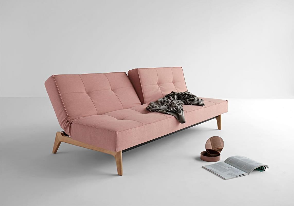 sofa rozk adana splitback eik z drewnianym stela em innovation scandinavian living. Black Bedroom Furniture Sets. Home Design Ideas