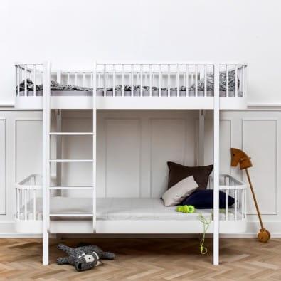 Ł 243 żko Piętrowe Białe Oliver Furniture Wood Collection